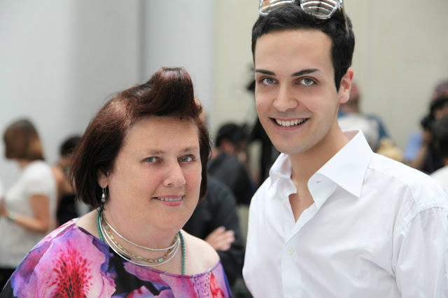 Edoardo Alaimo e Suzy menkes