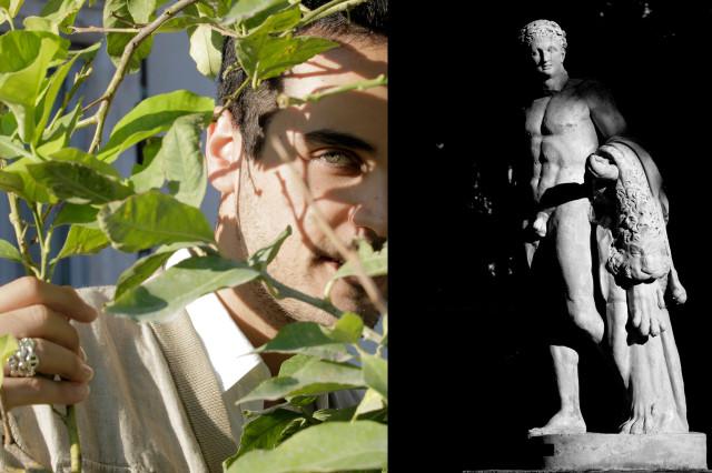 Edoardo Alaimo outfit Villa Borghese Roma4
