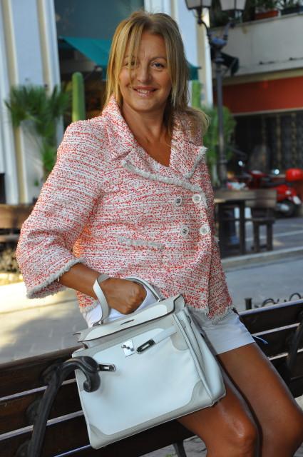 Kelly Ghilles Hermès e giacca Chanel  Grazia Pitorri1