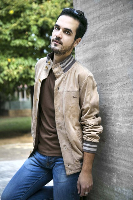Edoardo Alaimo outfit autunno beige2