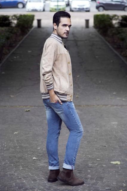 Edoardo Alaimo outfit autunno beige7