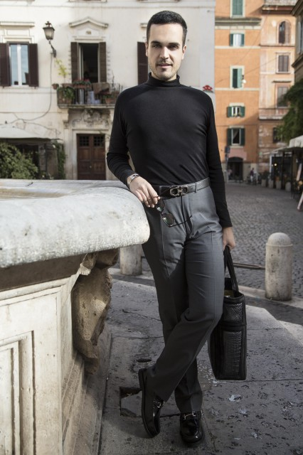 Edoardo Alaimo fashion blogger outfit Colosseo8