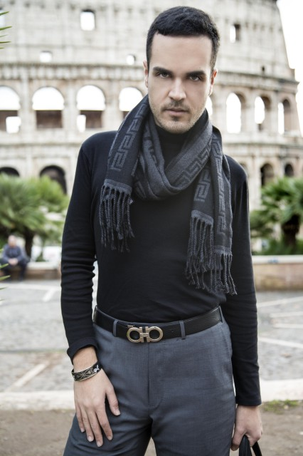 Edoardo Alaimo fashion blogger outfit Colosseo3