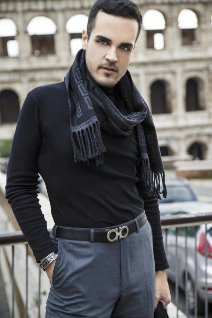Edoardo Alaimo fashion blogger outfit Colosseo9