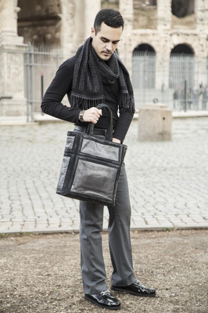 Edoardo Alaimo fashion blogger outfit Colosseo6