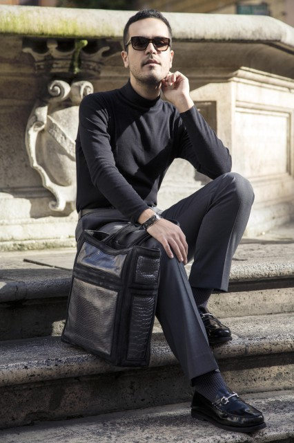 Edoardo Alaimo fashion blogger outfit Colosseo4