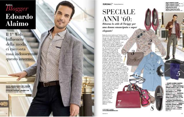 Edoardo Alaimo fashion blogger per Euroma2 centro commerciale