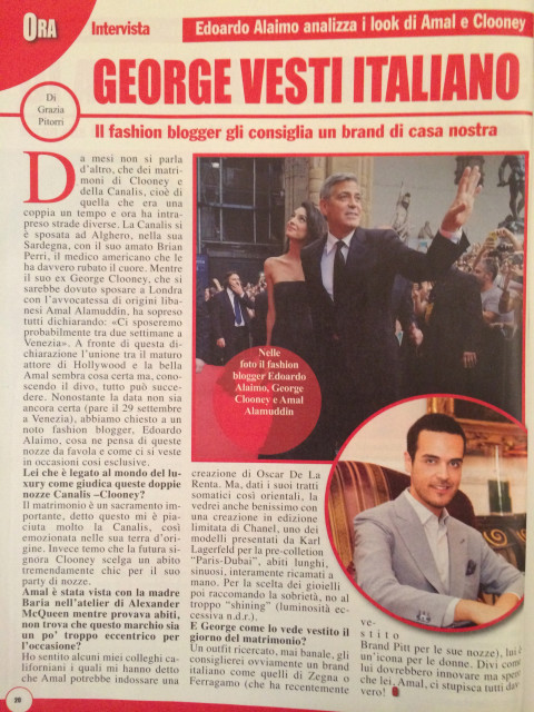 Edoardo Alaimo fashion blogger giornale Ora