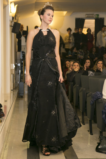 Aniko Pusztai indossa abito Italia Tahm couture