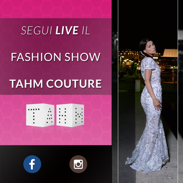 Tahm couture fashion show live streaming Edoardo Alaimo