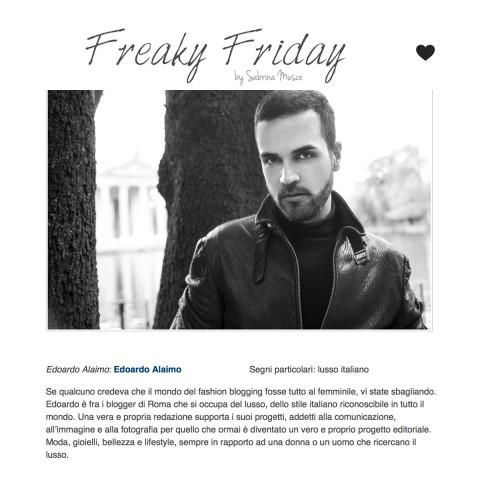 <!--:it-->Edoardo Alaimo sul blog Freaky Friday di Sabrina Musco<!--:-->
