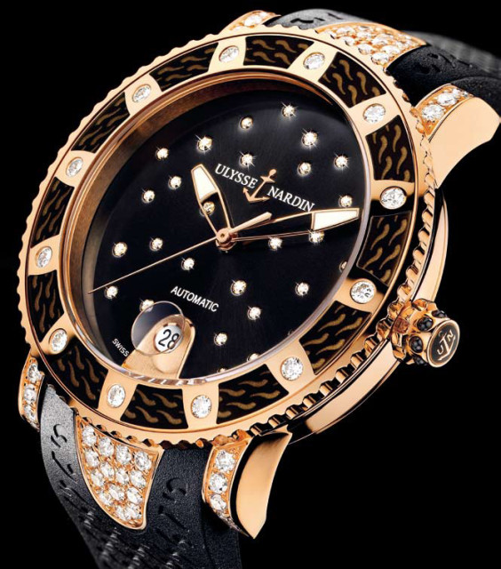 Ulysse Nardin lady diver starry night Edoardo Alaimo2
