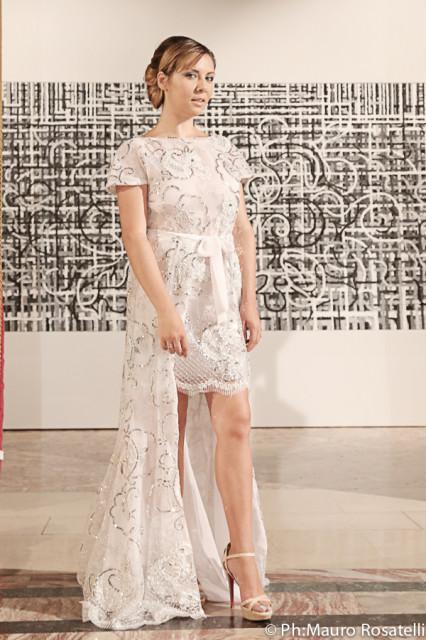Ida Galati in Tahm couture