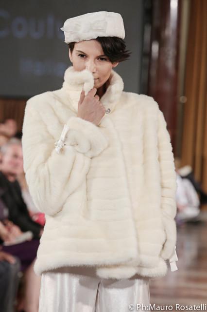Tahm couture visone bianco