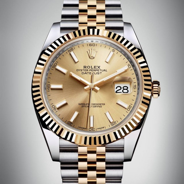 nuovo datejust42  Rolex oro e acciaio Edoardo Alaimo