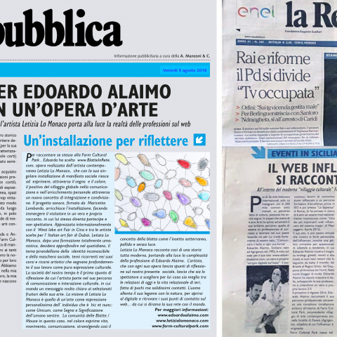"<!--:it-->Edoardo Alaimo - ""BlatteInRete.com"" exhibition - La Repubblica 05/08/2016<!--:--><!--:en-->Edoardo Alaimo - ""BlatteInRete.com"" exhibition - La Repubblica 05/08/2016<!--:-->"
