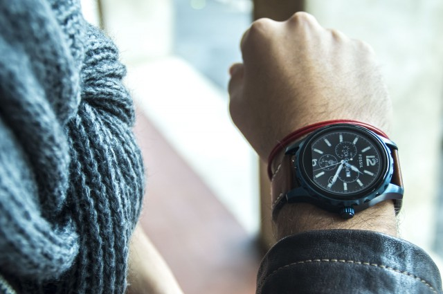 Edoardo Alaimo look Fossil watch3