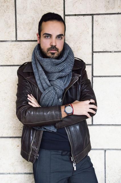 Edoardo Alaimo look Fossil watch1