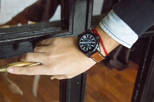Edoardo Alaimo look Fossil watch11
