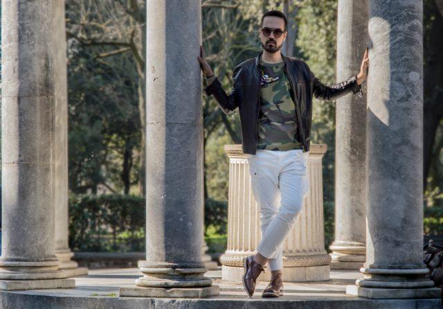 Edoardo ALaimo influencer outfit post Villa Borghese2