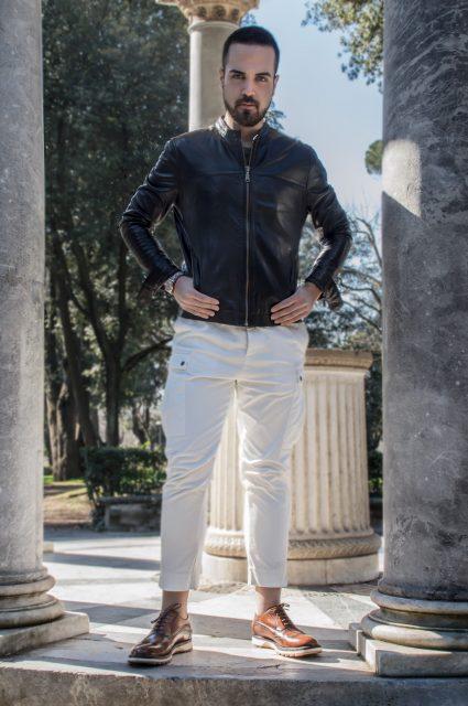Edoardo ALaimo influencer outfit post Villa Borghese3
