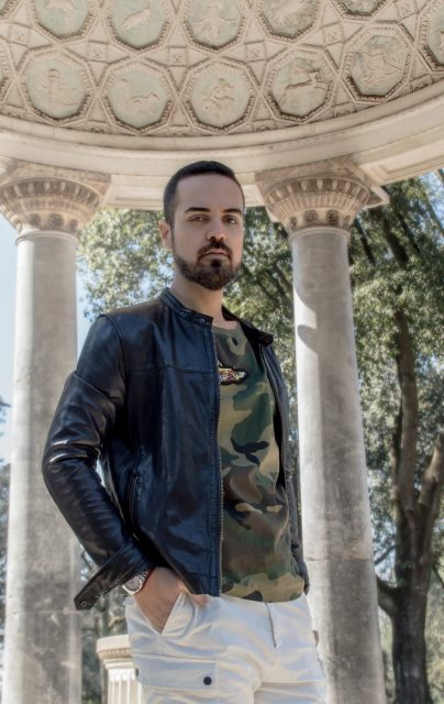 Edoardo ALaimo influencer outfit post Villa Borghese4