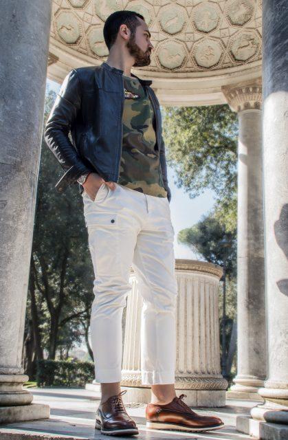 Edoardo ALaimo influencer outfit post Villa Borghese5