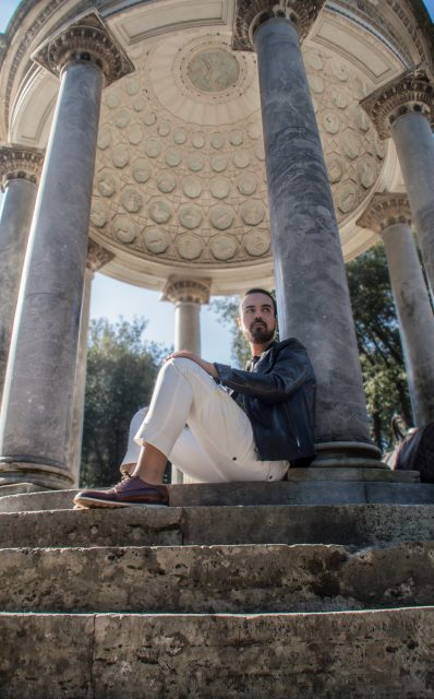 Edoardo ALaimo influencer outfit post Villa Borghese7