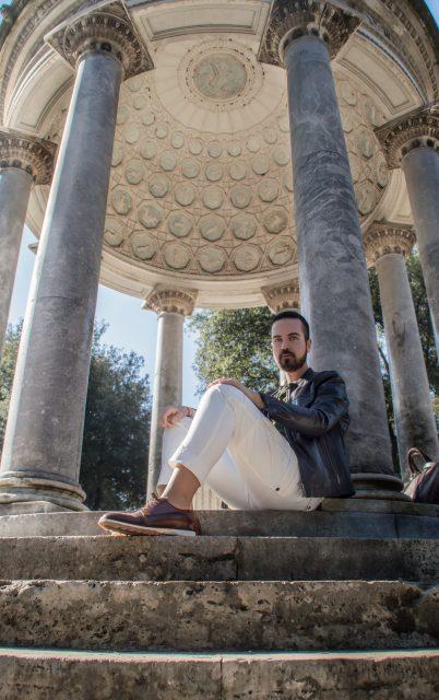 Edoardo ALaimo influencer outfit post Villa Borghese8