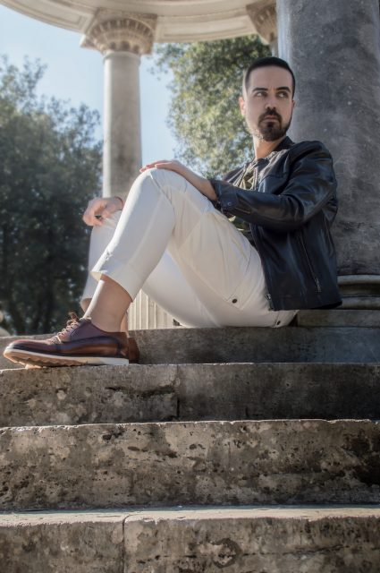 Edoardo ALaimo influencer outfit post Villa Borghese9