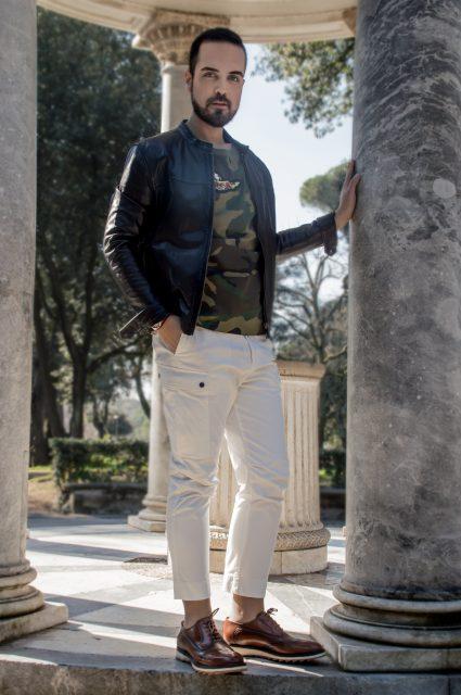 Edoardo ALaimo influencer outfit post Villa Borghese10