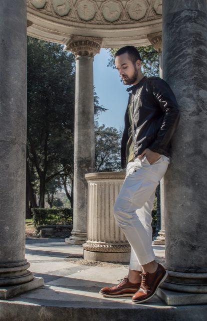 Edoardo ALaimo influencer outfit post Villa Borghese11