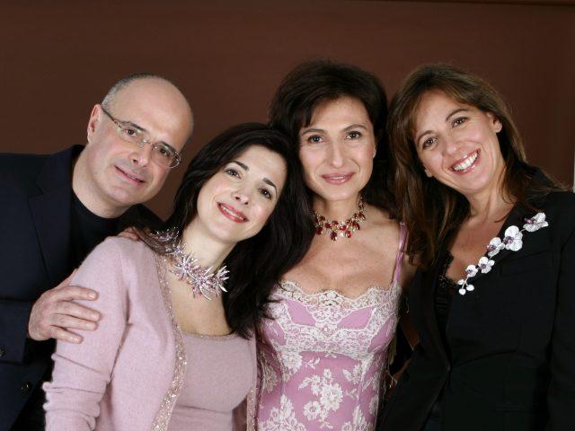 Emanuele, Costanza, Maria Elena e Teresa Aprea - famiglia Chantecler