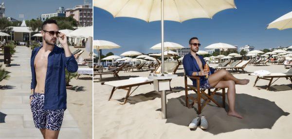 Edoardo Alaimo fashion influencer costumi moda mare Zalando