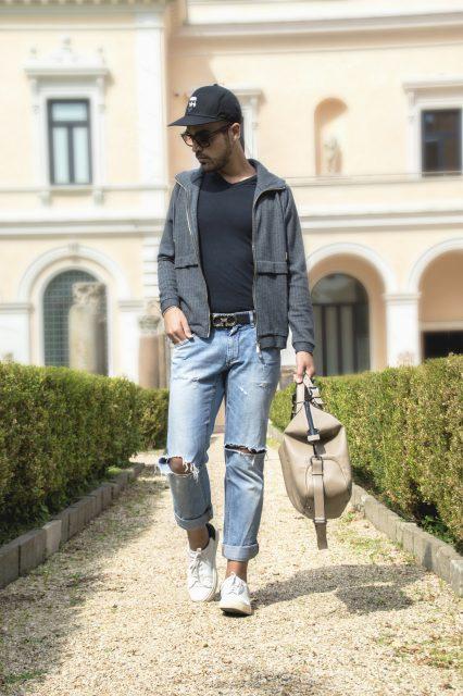 Edoardo Alaimo fashion influencer outfit Roma15