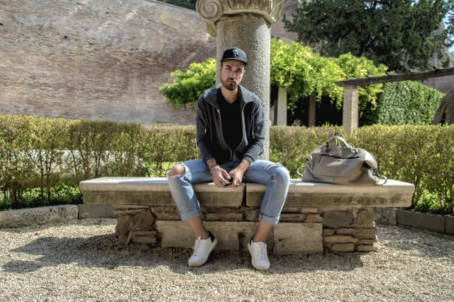 Edoardo Alaimo fashion influencer outfit Roma6