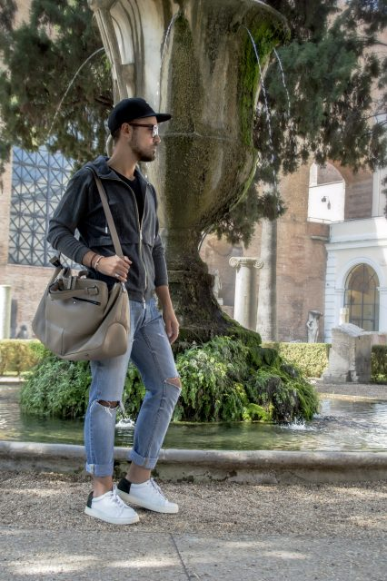 Edoardo Alaimo fashion influencer outfit Roma9