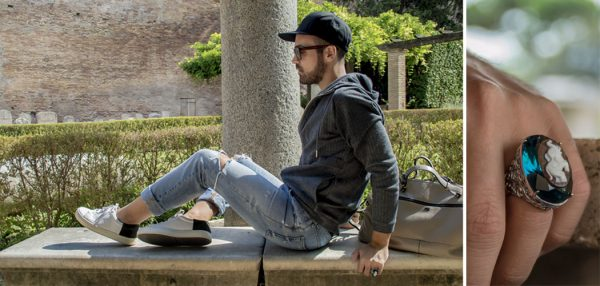 Edoardo Alaimo fashion influencer outfit Roma copertina
