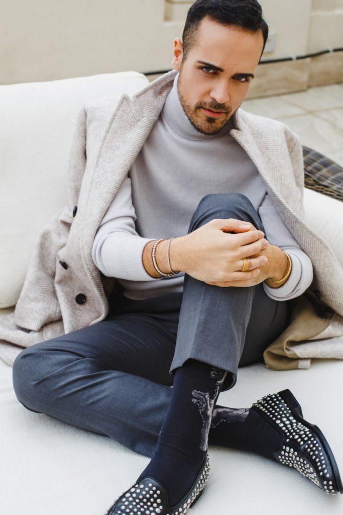 Outfit di Natale del fashion blogger Edoardo Alaimo