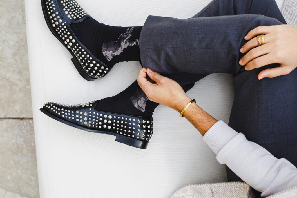 Outfit per Natale con scarpe Giuseppe Zanotti