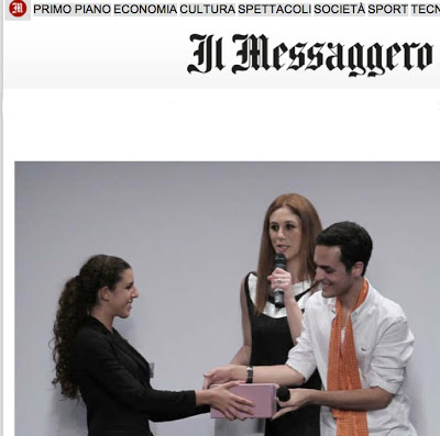 "Edoardo Alaimo wins the prime ""Fashion blogger of the year""Il Messaggero"