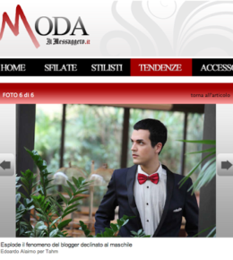 "Edoardo Alaimo on the cover of "" Il messaggero"" moda"