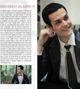 Edoardo Alaimo interview for IN Magazine