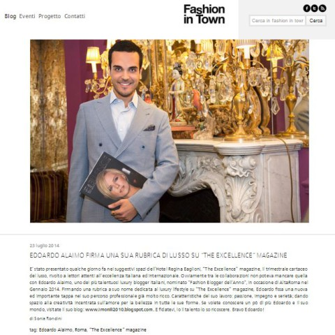 "<!--:it-->Edoardo Alaimo on "" Fashion in Town"" magazine<!--:-->"