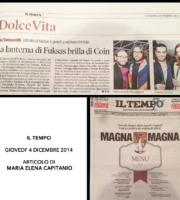 <!--:en-->Il Tempo- Fashion and events 04/12/2014<!--:-->