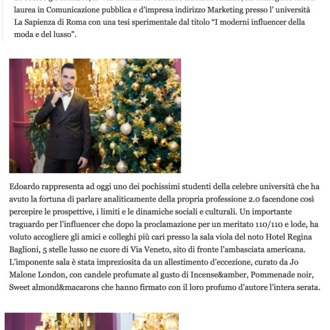 <!--:en-->The gold influencer a Roma per celebrare la laurea di Edoardo Alaimo - Gossip chic<!--:-->