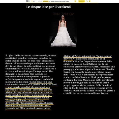 <!--:en-->On Agi.it ( press agency) talking about Alta Roma fashion week<!--:-->