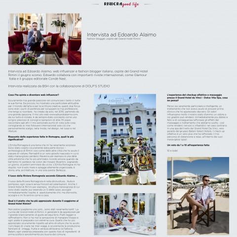 Grand Hotel Rimini: Intervista Edoardo Alaimo - Luglio 2017