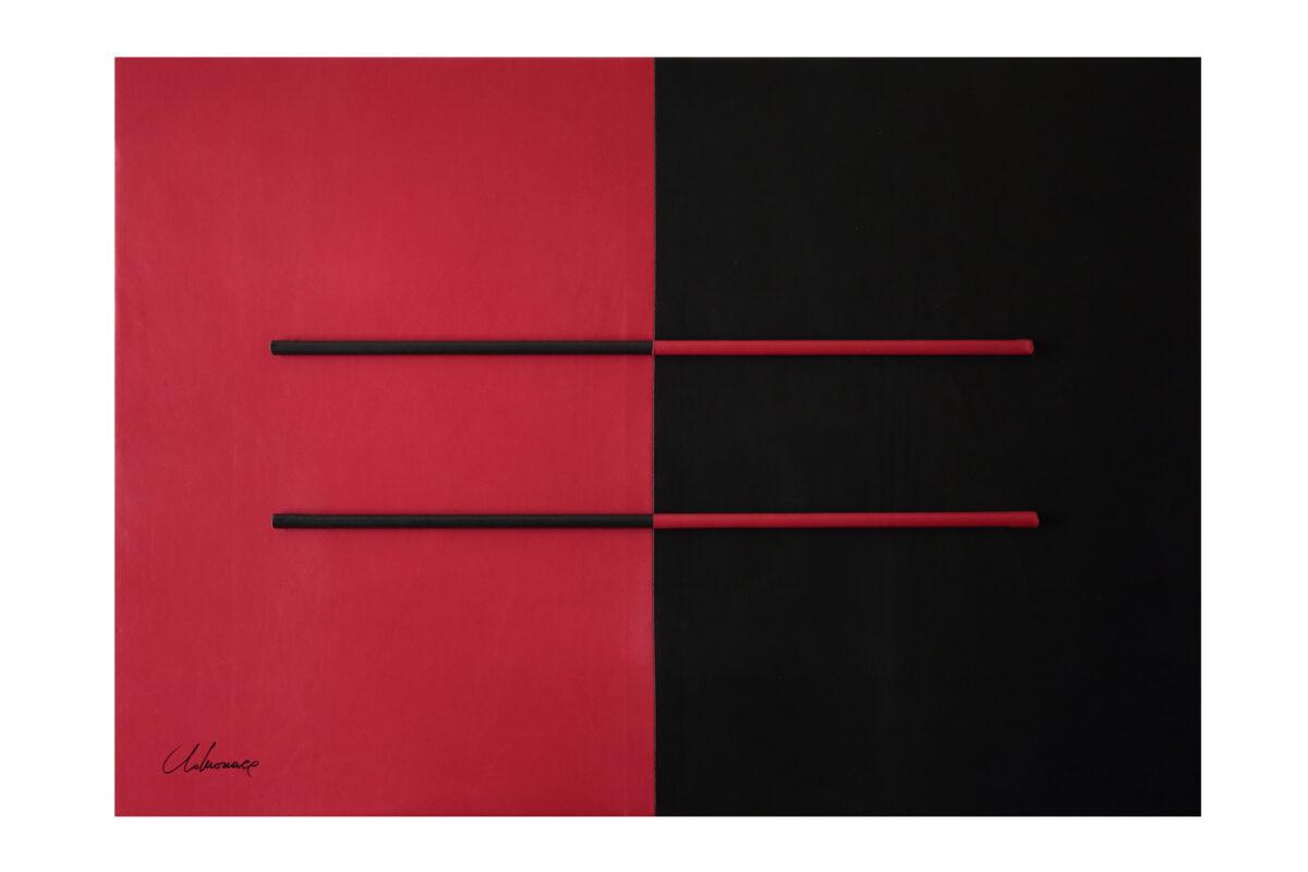 Edoardo_Alaimo_Letizia_Lo_Monaco_Geometrie_Freudiane_quadro_in_pelle